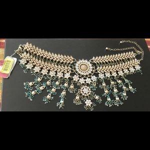 Fancy rhinestone necklace by Natasha NWT